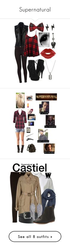 """""""Supernatural"""" by michaela1997 ❤ liked on Polyvore featuring American Apparel, So in Fashion, Forever 21, Diane Von Furstenberg, Maybelline, supernatural, T By Alexander Wang, Frame, Faliero Sarti and Pieces"""