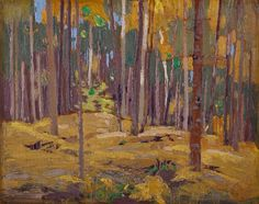 Happy Thanksgiving from Akimbo!   Thomas John Thomson (born Claremont Ontario 1877; died Canoe Lake Algonquin Park 1917) Autumn Woods Fall 1916 oil on wood panel. Gift of Margaret Botterell in memory of Dr Harry Botterell 1998 (41-009). Image courtesy of the @aeartcentre. #art #canada #canart #landscape #autumn #fall #trees #algonquinpark