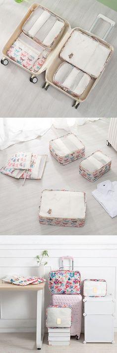 US$16.88 Women 6 PCS Travel Outdoor Storage Bag Luggage Bag Net Bag