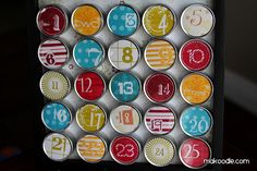 Advent Calendar--fill with a piece of candy and include a note with an activity written on it to do as a family, like watch a Christmas movie, or make popcorn garland, Etc.