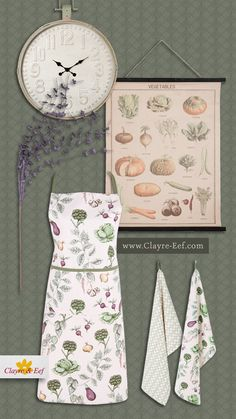 The Kitchen Garden • A beautiful garden is a work of art and so is our (textile) collection 'The Kitchen Garden'. Shop on www.clayre-eef.com. Garden Shop, Beautiful Gardens, Interior Decorating, Collections, Artwork, Kitchen, Interior Styling, Cuisine, Work Of Art