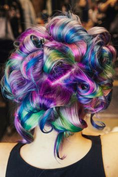 How to Get Rainbow Hair Color - My Transformation to Sand Art Hair Color Fantasia, Coloured Hair, Thats The Way, Purple Hair, Neon Hair, Turquoise Hair, Violet Hair, Cool Hair Color, Hair Colors