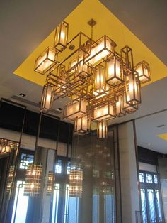 Produced by Inlight International Design by Yabu Pushelberg Non-traditional chandelier