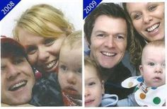 14 photos taken in 14 years. Amazing couple