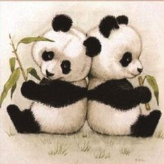Hard to resist the cuteness of pandas?You must be a panda fan!You won't say no to our top collection of panda diamond painting kits. Pandas Baby, Baby Panda Bears, Cute Baby Animals, Wild Animals, Panda Babies, Cute Animal Drawings, Cute Drawings, Cute Panda Drawing, Baby Drawing