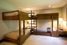 Corner double bunk beds - needs double bed lowers - storage under the beds? - storage in corner space?