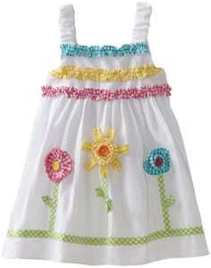 I really need to get back to work….too CUTE, I can already picture her in it …SOMEDAY Frocks For Girls, Kids Frocks, Little Girl Outfits, Toddler Girl Dresses, Little Dresses, Kids Outfits, Girls Dresses, Sewing Kids Clothes, Baby Sewing