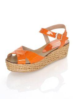 Fun little tangerine patent sandal $ 70AUD