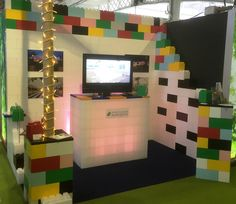 Exhibition stand created entirely from Everblock building blocks for the Event Production Show Olympia this year.