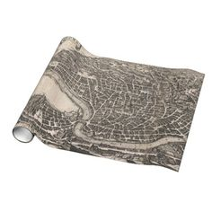 Vintage Map of Rome Italy (1652) Gift Wrapping Paper $16.95