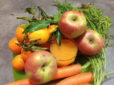 Centrifuga di mela, carota, limone e clementine