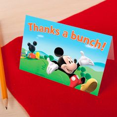 Mickey Mouse Clubhouse Thank You Cards