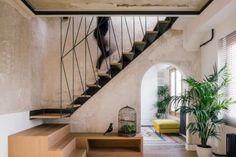 Home^Dome | Idoia Otegui arquitectura | Media - Photos and Videos | Archello Patio Interior, Interior Stairs, Home Interior Design, Interior Architecture, Boffi, Dome House, Duplex, Bedroom With Ensuite, Design Awards