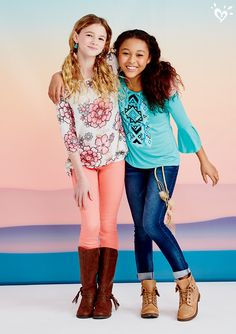 Classic blue denim or colored jeans? The choice is hers. She'll have fun switching up her style every day.