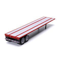 This flatbed semi-trailer paper model kit allows you to build red colored 20, 40 and 45 foot trailers with either a wood or aluminum textured deck. Populate your model railroad with freight hauling…
