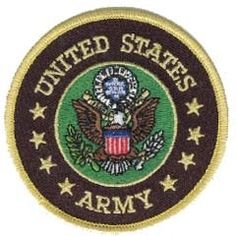"""United States Army Crest (3"""") round embroidered patch. Officially licensed by the U.S. Army; royalties paid go to the MWR."""