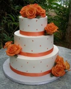 chocolate brown and burnt orange wedding cakes 1000 images about burnt orange wedding on 12688