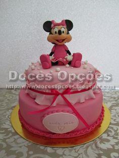 Doces Opções: Bolo de aniversário da Maria João com a Minnie