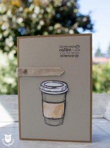 Stampin Up Karte Coffee