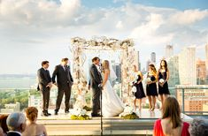 Brides: A Modern Summer Wedding at New York City's Press Lounge