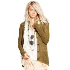 34472426 - Long-Sleeved Linen Cardigan