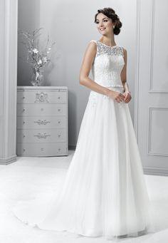 svatební šaty tylová sukně krajka splývavý styl vintage Agnes 14315