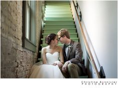 Couple in stairway