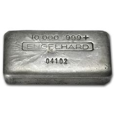 Beautiful and rare, 10 oz. Engelhard Silver Bars (Vintage, Poured) We Buy & Sell #Silver.