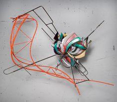 Frank Stella, K.97, 2008. Protogen RPT with stainless steel tubing, 66 x 73 x 60 inches.  Courtesy of Paul Kasmin Gallery