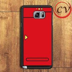Red Pokedex Pokemon Samsung Galaxy Note 6 Case