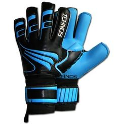 Ichnos Artemis Neon adult size football goalkeeper gloves with protective finger bars