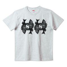 (釣りざんまい)ゼンタングル サカナたち   デザインTシャツ通販 T-SHIRTS TRINITY(Tシャツトリニティ)