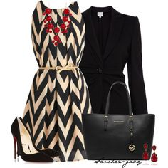 A fashion look from December 2013 featuring Armani Collezioni blazers, Christian Louboutin pumps y MICHAEL Michael Kors tote bags. Browse and shop related looks.