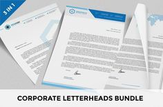 cool Corporate Letterheads Bundle vol.1   CreativeWork247 - Fonts, Graphics...