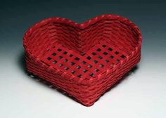 Large Red Heart Basket от JustaBunchofBaskets на Etsy