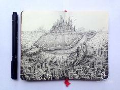 moleskine doodles lost city doodleart kerbyrosanes sketchystories ...