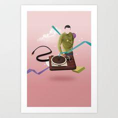 ILOVEMUSIC #4 Art Print by Nazario Graziano