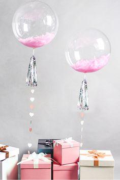 Una Decoración muy atractiva con Globos Transparentes de PVC esféricos