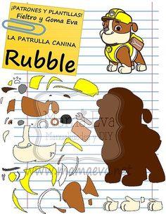 Rubble patrulla canina en foamy