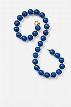 A Viennese 18k gold and lapis lazuli collier