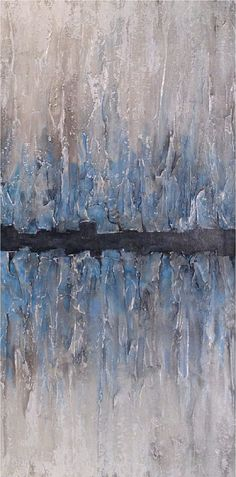 Large Abstract painting 24 X 48 Artwork-by Artist