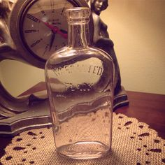 Antique Warranted Flask - 1920s Vintage Glass Bottle/Vase Gift by fahnaobscura on Etsy https://www.etsy.com/listing/255581575/antique-warranted-flask-1920s-vintage