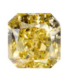 0.48 Carat Fancy Vivid Yellow Radiant Diamond