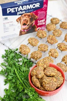 Your dog will love these homemade Chicken and Cheese Dog Treats made with delicious ingredients like ground chicken, mozzarella cheese, and flaxseed! Easy Dog Treat Recipes, Homemade Dog Treats, Dog Food Recipes, Cooking Recipes, Easy Family Meals, Meals For One, Banana Treats, Chicken For Dogs, Cheese Dog