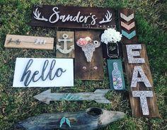 DString String art / home decor / gallery wall / anchor / Mason jar / chevron / buck horns / steer head necklace hanger / arrows / eat sign / beer bottle with caps