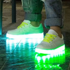 Children Teenager LED Light Sneakers PU Leather Kids Casual Shine Boys Girls Lac - US$24.65