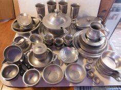 "Wilton Columbia PA Armetale ""Pewter"" Set of Dishes"