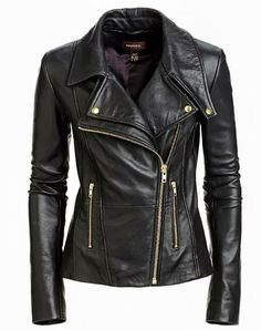 Black Leather Jacket for Fall