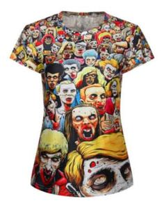 f22e29451 New Fashion The Walking Dead T Shirt For Women Zombie Short Sleeve Tee For  Summer
