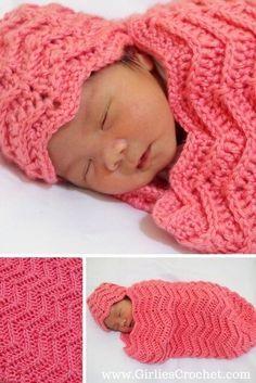 Free crochet pattern : Ylah Baby Cocoon